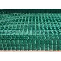 Buy cheap PVC Coated Wire Mesh Fence Panels For Highway / Construction Green Color product