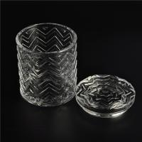 Buy cheap Clear home decoration extra large glass candle holders with glass lid product