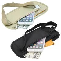 Buy cheap Double Zippered Pockets Travel Fanny Pack With Adjustable Strap Nylon Belt product