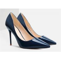 Buy cheap Spring Autumn Womens High Heel Pumps Dark Blue Stiletto Shoes For Wedding product