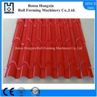 Buy cheap ISO PLC Control Tile Roll Forming Machine 0.3 - 0.8mm Thickness Plate from wholesalers