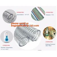 Buy cheap Transparent PVC Spiral Steel Wire Reinforced Pipe Floating Dredge Hose product