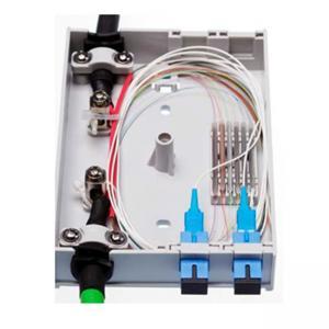 Buy cheap 4 FO Outdoor Fiber Optic Junction Box , SC Simplex LC Duplex Adapters Fiber Access Terminal Box product