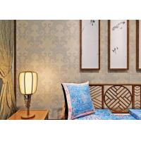 Buy cheap Light Grey Victorian Damask Wallpaper Waterproof with Vinyl Material , 0.53*10M Size product