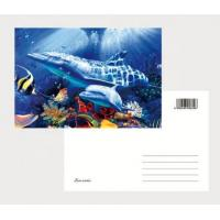 Buy cheap 2021 Souvenir scenery Plastic lenticular 3D printing postcard with 3D flip effect post card printed by UV printer product