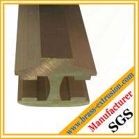 Buy cheap fine process satin brushed satinfinishing brass extrusion profiles product