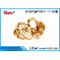 China Colored Alloy Copper Pipe Flange , Copper Floor Flange For Exchanger Shells on sale