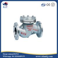 High quality flanged swing GB lift stainless steel water check valve with low price
