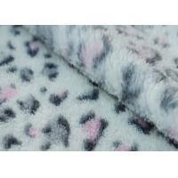 Coral Fleece Fabric With SGS Certification Leopard printed 160cm width