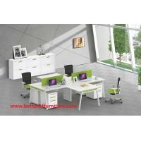 Buy cheap Full set A3060 steel tube 4 person office table furniture 2-2 face to face to site divider space product
