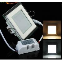Buy cheap Round and Square design of Glass recessed LED panel light flat SMD5730 Epistar 6W product