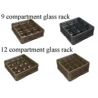 Buy cheap PP Compartment Glass Rack Kitchen Plate Rack For Commercial Dishwashing Machine product