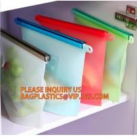 China Refrigerated Cooler Reusable Silicone Food Bag, Preservation Storage Container Airtight Seal Cooking Bag bagease package on sale