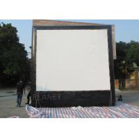 Quality Air Sealed Backyard Inflatable Movie Screen , Rear Projection Screen For Party for sale