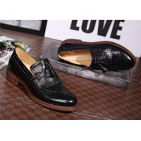 Quality High End Comfortable Trendy Shoes Classical Mens Brown Wingtip Brogues Platform for sale