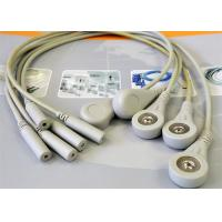 Buy cheap 5 Leads Snap ECG Monitor Cable Leadwires , Compatible Din Style ECG Truck Cable product