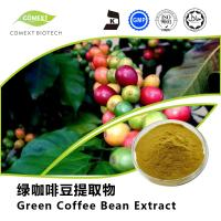 Quality Comext Supply Green Coffee Bean Extract 50% Chlorogenic Acid Yellow Brown Powder for sale