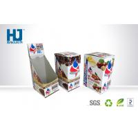 Buy cheap Corrugated Paper Counter Display Boxes Spot Color Printing For Coffee product