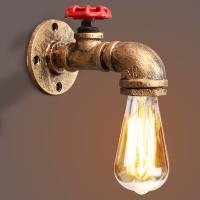 China Vintage Retro Rustic Water pipe wall light for Dining room Bar Coffee Shop (WH-VR-02) on sale
