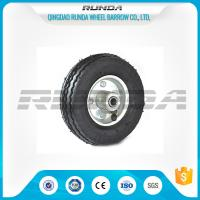 Quality Bent Valves Pneumatic Rubber Wheels 6 Inches Roller Bearing For Hand Trolley for sale