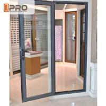 Buy cheap Long Life Span Tempered Glass Door , Double Swing Modern Aluminium Doors shower from wholesalers