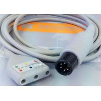 Buy cheap Gray Color 3 Lead Ecg Monitor Cable Excellent Compatibility CE Ul Iso product