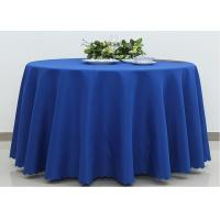 Buy cheap Dark Blue Wedding Textile Round Linen Table Cloths , 90 / 108 Inch Round Tablecloth product