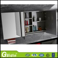 China Mirrored Solid Wood Carcase Material bathroom cabinet on sale