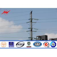 China 60kv Electrical  Steel Utility Pole For Power Distribution Line Project Pole on sale