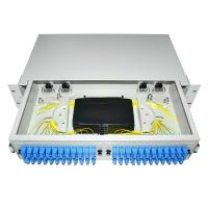 Buy cheap Dustproof LC SC 19' Rack Mount Fiber Terminal Box Enclosure Fiber Distribution Patch Panel product