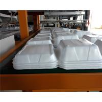 Buy cheap Styrofoam Automatic Vacuum Forming Cutting Stacking Integrated Machine For Food Container product