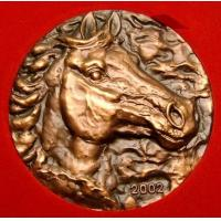 Buy cheap brozne relief horse head sculpture product
