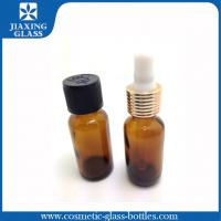 Buy cheap Screen Printing Amber Bottle For Essential Skincare With Screw Cap / Orifice15ml 30ml product