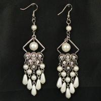 Buy cheap Drop Earrings, Fashionable Design, Made of Metal, Chinese Rhinestone, Zinc Alloy and Plastic product