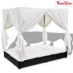 Buy cheap Comfortable Outdoor Furniture Sofa , Cream White Outdoor Garden Furniture Lounge Sofa product