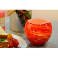 Buy cheap Colorful Glass Candle Holder for Wedding Decor , Red Yellow Color Material Mixed Planet product