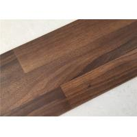 China Dark Walnut Wooden Floor Boards,  Commercial Unilin Click Laminate Flooring on sale
