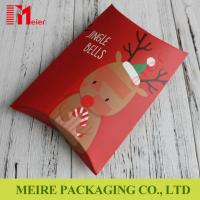 Buy cheap New red printing Christmas creative candy gift box candy pillow box with cheap price product