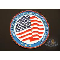Buy cheap Zinc Alloy Material Factory Custom Metal Challenge Coins Collectable Coins Synthetic Enamel product