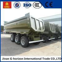 Buy cheap High Strength 3 Axles 70 Tons Steel Hydraulic Rear End U shaped Dump Semi Trailer product