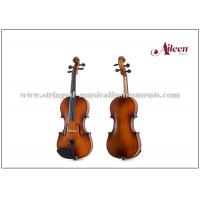 Buy cheap Reddish / Matt Brown Color Musical Instruments Violin For Beginners / Student 1/16 - 4/4 Size product