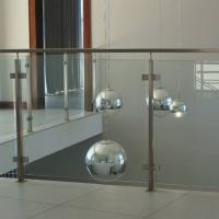 Buy cheap 304 Stainless Steel Post Tempered Glass Balcony Railing Design product