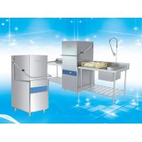 Buy cheap Polished Surface Hood Type Dishwasher With Rinse Temperature Control System product