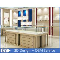 High End Store Jewelry Display Cases , Wood Gold Shop Jewelry Showroom Furniture