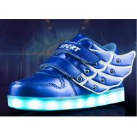 Buy cheap Waterproof And Warm Childrens LED Shoes / USB Charging Kids Shoes For Winter product