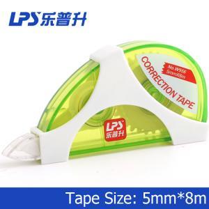 Artigos de papelaria criativos verdes da fita de correção dos filmes ultra finos NENHUM W956 5mm x 8m