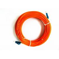 Buy cheap Orange LC PC Fiber Optic Jumper , Multimode Fiber Patch Cord MM For FTTH product
