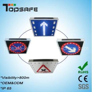 Buy cheap Aluminum Flashing Solar LED Traffic Warning Signage product