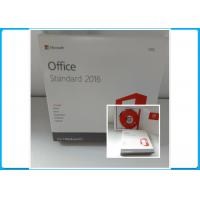 Buy cheap USA Origin Microsoft Office Standard 2016 DVD Retail Box No Limitation Area product
