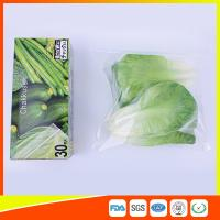 Buy cheap Resealable LDPE Clear Ziplock Freezer Storage Bags For Vegetable product